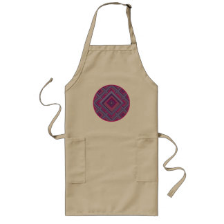 purple passion lavender diamond pattern barbeque long apron