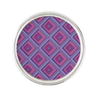 purple passion lavender fields diamond pattern art lapel pin