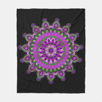 Purple Passion Mandala Fleece Blanket