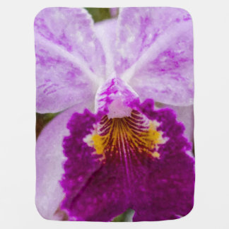 Purple Passion Orchid Baby Blanket