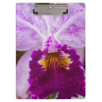 Purple Passion Orchid Clipboard