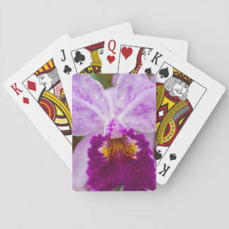 Purple Passion Orchid Playing Cards