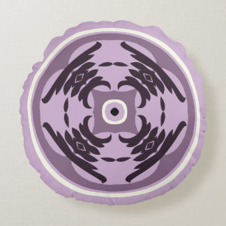 Purple Passion Round Pillow