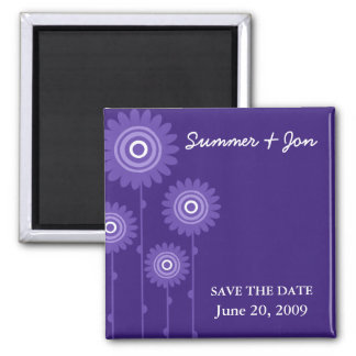 PURPLE PASSION SAVE THE DATE SQUARE MAGNET
