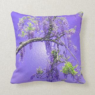 Purple Passion Wisteria Throw Pillow