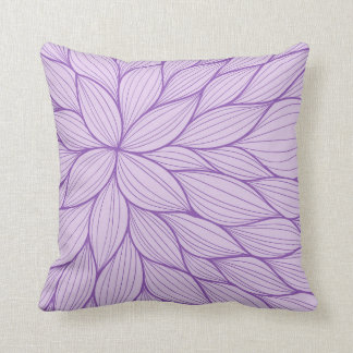 Purple Pastel Petal Watercolor Pillow