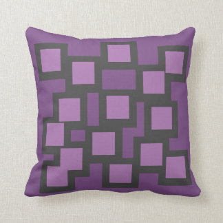 Purple Patch Pillow/Cushion Vers 1 Squares Throw Pillow