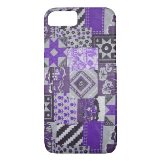 Purple Patchwork Quilt iPhone 8/7 Case