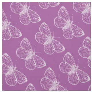 Purple Patina: Butterflies Fabric