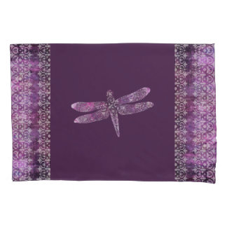 Purple Patina: Dragonfly Filigree Pillowcase