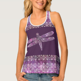 Purple Patina: Dragonfly Filigree Tank Top