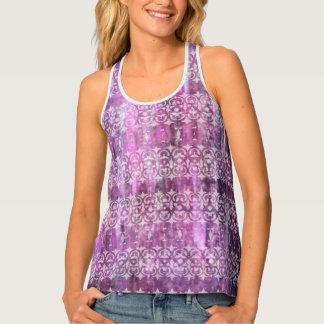 Purple Patina: Filigree Tank Top
