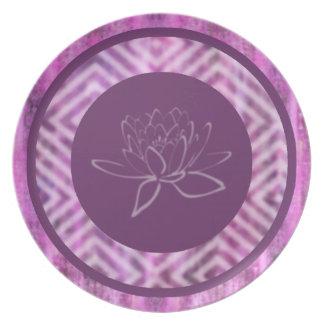Purple Patina: Lotus Dinner Plates