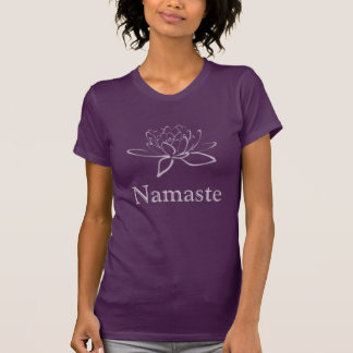 Purple Patina: Lotus Namaste T-Shirt