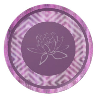 Purple Patina: Lotus Plate