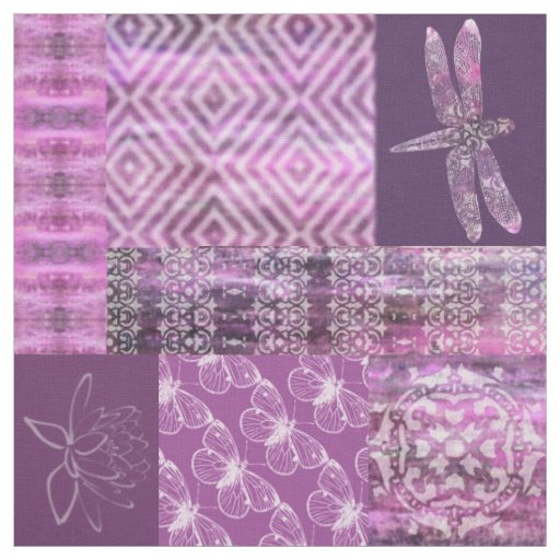 Purple Patina: Mosaic Fabric