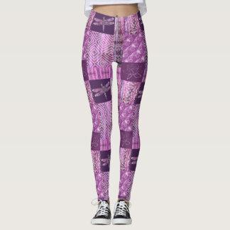 Purple Patina: Mosaic Leggings