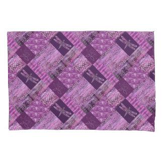 Purple Patina: Mosaic Pillowcase