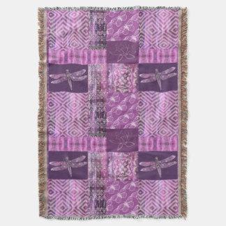 Purple Patina: Mosaic Throw