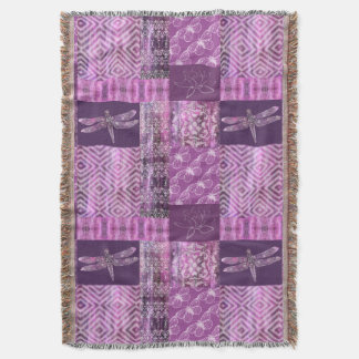Purple Patina: Mosaic Throw Blanket