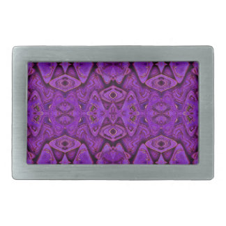 purple pattern background rectangular belt buckle