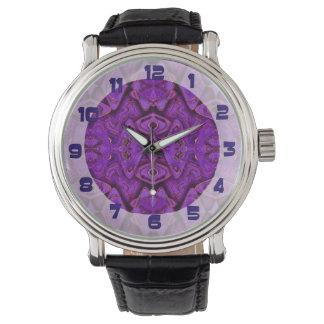 purple pattern background watch
