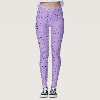 Purple pattern design leggings