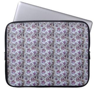 Purple Pattern  flowes  Electronics Bag Laptop Computer Sleeves