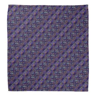 Purple Patterned Head Kerchief