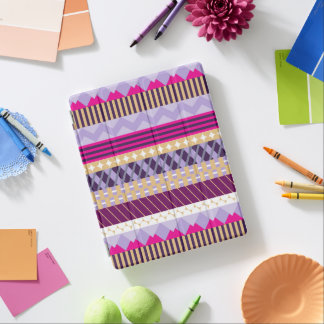 Purple Patterned iPad Cover