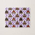 Purple Patterned Poop Emojis Puzzle