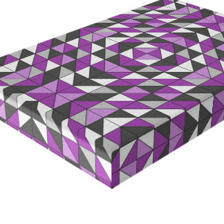 Purple Patterned Triangles Canvas Print