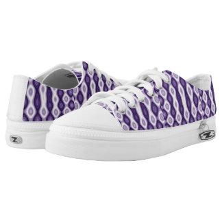 Purple patterns Low-Top sneakers
