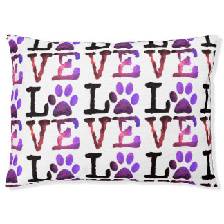 Purple Paw Love Dog Bed Large Dog Bed