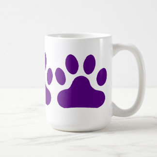 Purple Paw Print Coffee Mug