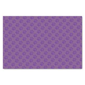 Purple Paw Prints Tissue Paper