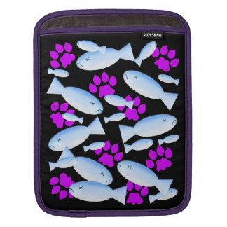 Purple Paws and Blue Fish iPad Sleeve