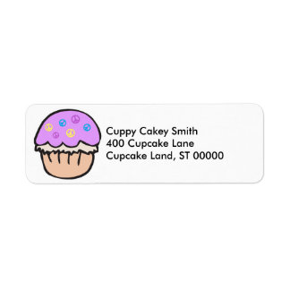 Purple Peace Cupcake Return Address Label