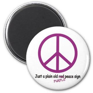 Purple Peace Magnet