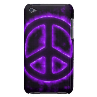 Purple Peace Sign Barely There iPod Case