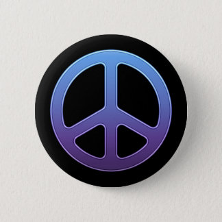 Purple Peace Sign Button