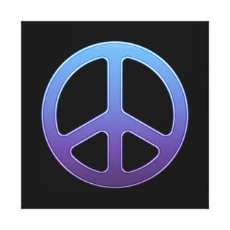 Purple Peace Sign Gallery Wrap Canvas