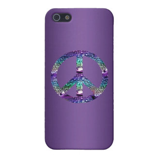 Purple Peace Sign Case Too