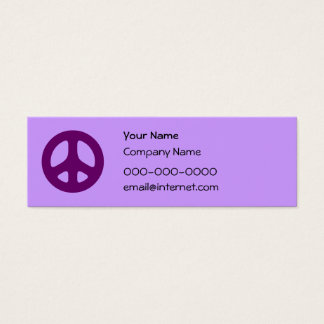 Purple Peace Sign Custom Business Card