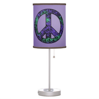 Purple Peace Sign Lamp