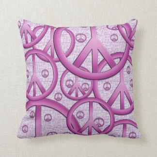 Purple Peace Sign Pillow