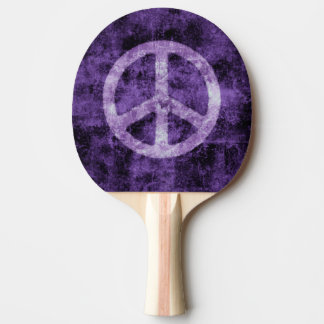 Purple Peace Sign Ping Pong Paddle