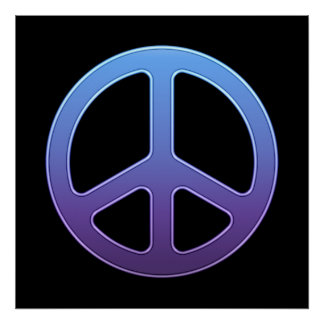 Purple Peace Sign Poster