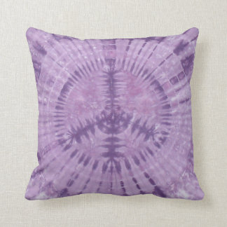 Purple Peace Sign Tie Dye American MoJo Pillow