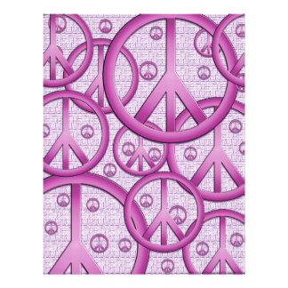 Purple Peace Signs Scrapbook Paper